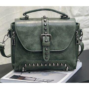 Женская сумка, зеленая П0380