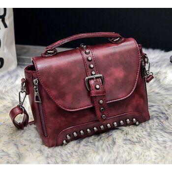 Женская сумка, красная 0381