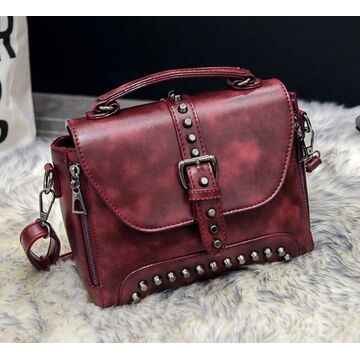 Женская сумка, красная П0381