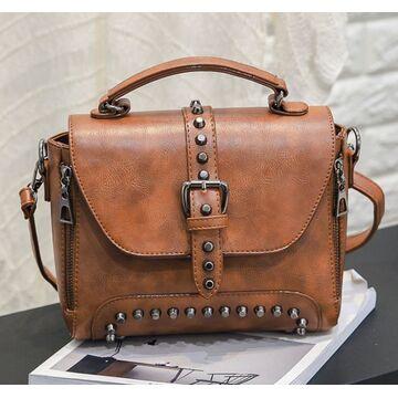 Женские сумки - Женская сумка, коричневая П0382