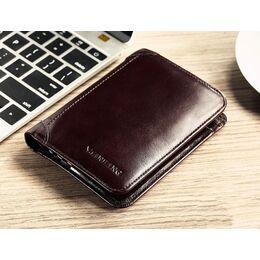 Мужской кошелек, коричневый 0386