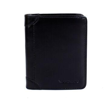 Мужской кошелек, черный П0387