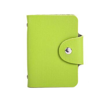 Визитница, зеленая П0402