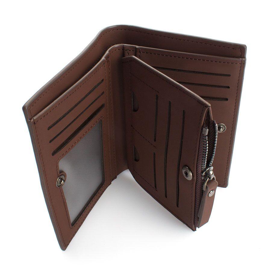 Мужские кошельки - Мужской кошелек, коричневый 0421