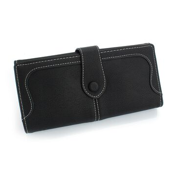 Женский кошелек, черный П0424