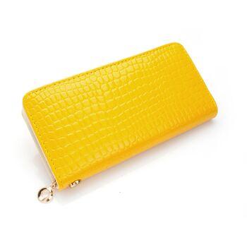 Женский кошелек, желтый 0429