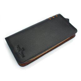Мужской кошелек барсетка,черный 0435