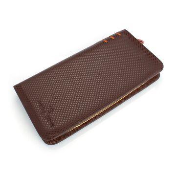 Мужской кошелек барсетка, коричневый П0436