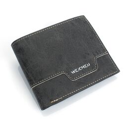 Мужской кошелек, черный 0441