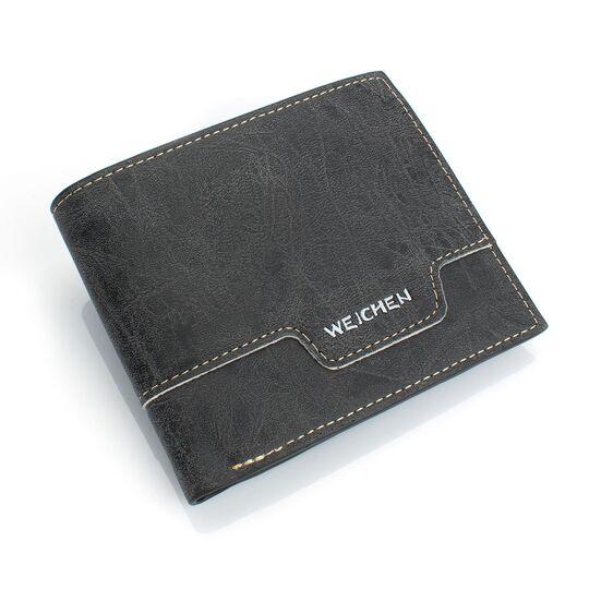 Мужские кошельки - Мужской кошелек, черный П0441