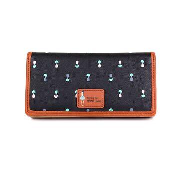 Женский кошелек, черный П0446