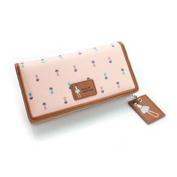 Женский кошелек, розовый 0449