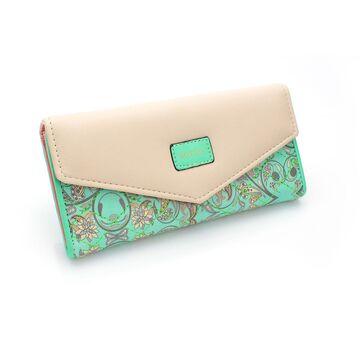 Женский кошелек, зеленый П0456