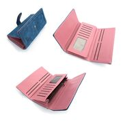 Женский кошелек, голубой П0463