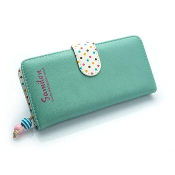 Женский кошелек, зеленый 0469