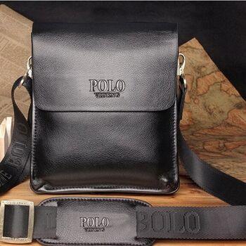 Мужская сумка POLO, черная 0473