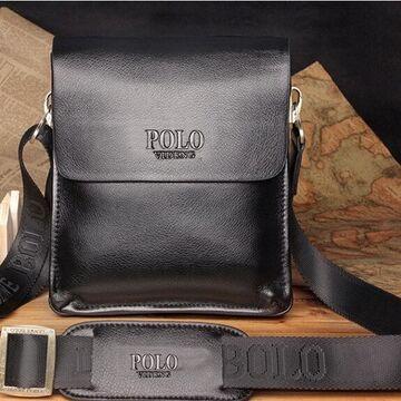 Мужские сумки - Мужская сумка POLO, черная П0473