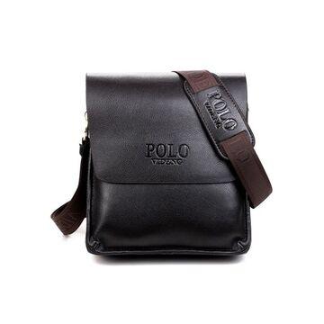 Мужская сумка POLO, коричневая П0474