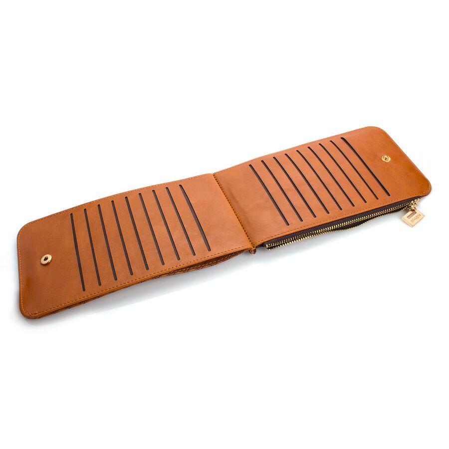 Женские кошельки - Женский кошелек, коричневый П0480