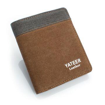 Мужской кошелек, коричневый П0490