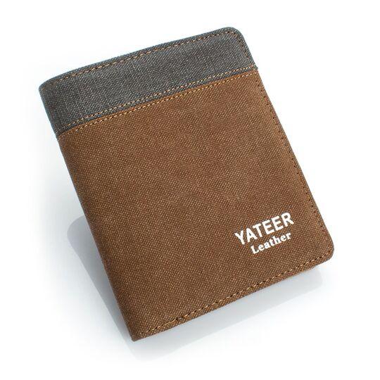 Мужские кошельки - Мужской кошелек, коричневый П0490
