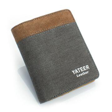 Мужской кошелек, серый П0491