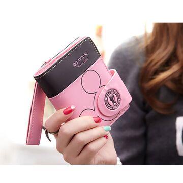 Женский кошелек Микки Маус, розовый П0501