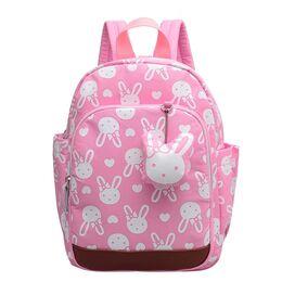 Детский рюкзак с кроликом, розовый 0509