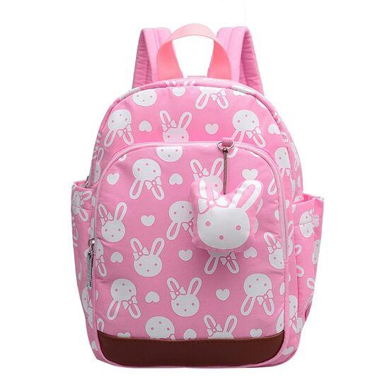 Детские рюкзаки - Детский рюкзак с кроликом, розовый П0509