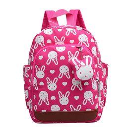 Детский рюкзак с кроликом, розовый 0510