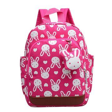 Детский рюкзак с кроликом, розовый П0510