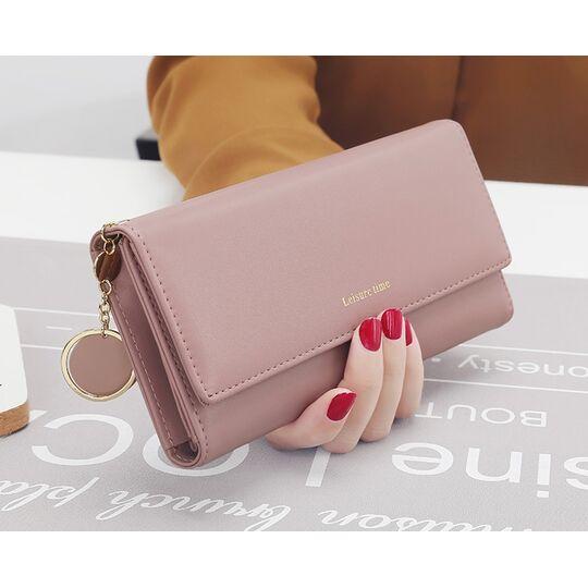 Женские кошельки - Женский кошелек, розовый П0513