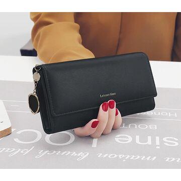Женский кошелек, черный - П0515