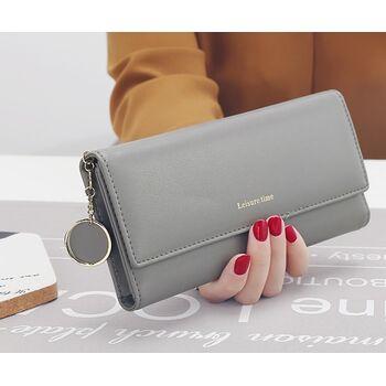 Женский кошелек, серый 0517