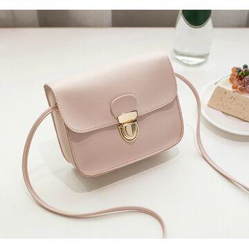 Женская сумка, розовая - П0532