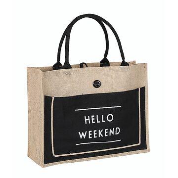 "Женские сумки - Женская сумка льняная ""Hello weekend"" П0554"