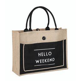 """Женская сумка льняная """"Hello weekend"""" П0555"""