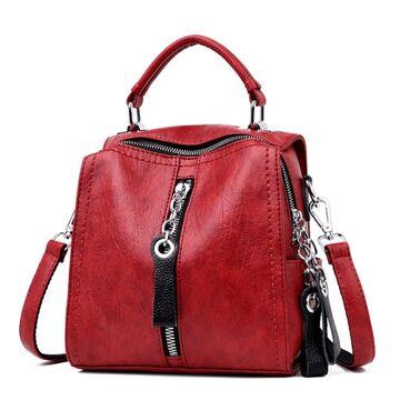 Женская сумка SAITEN, красная П0563