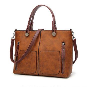 Женская сумка Tinkin, коричневая 0571