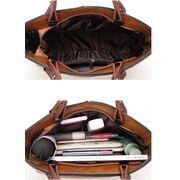 Женские сумки - Женская сумка Tinkin, коричневая П0571