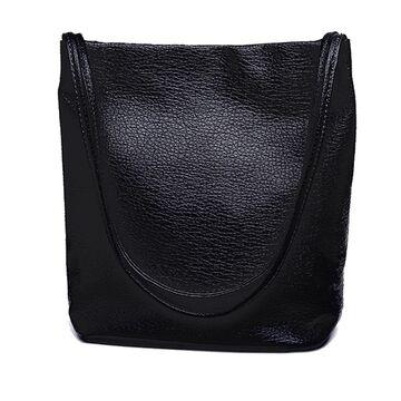 Женские сумки - Женская сумка, черная П0588