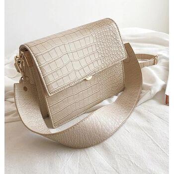 Женская сумка, бежевая 0596