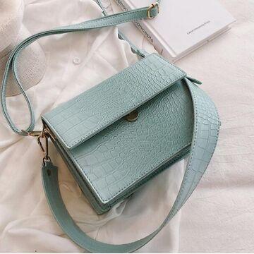 Женская сумка, голубая П0597