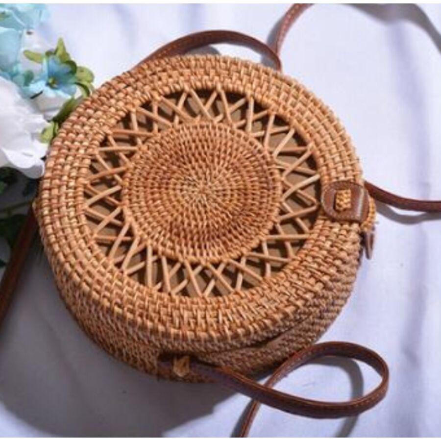 Женские сумки - Сумка соломенная 0613