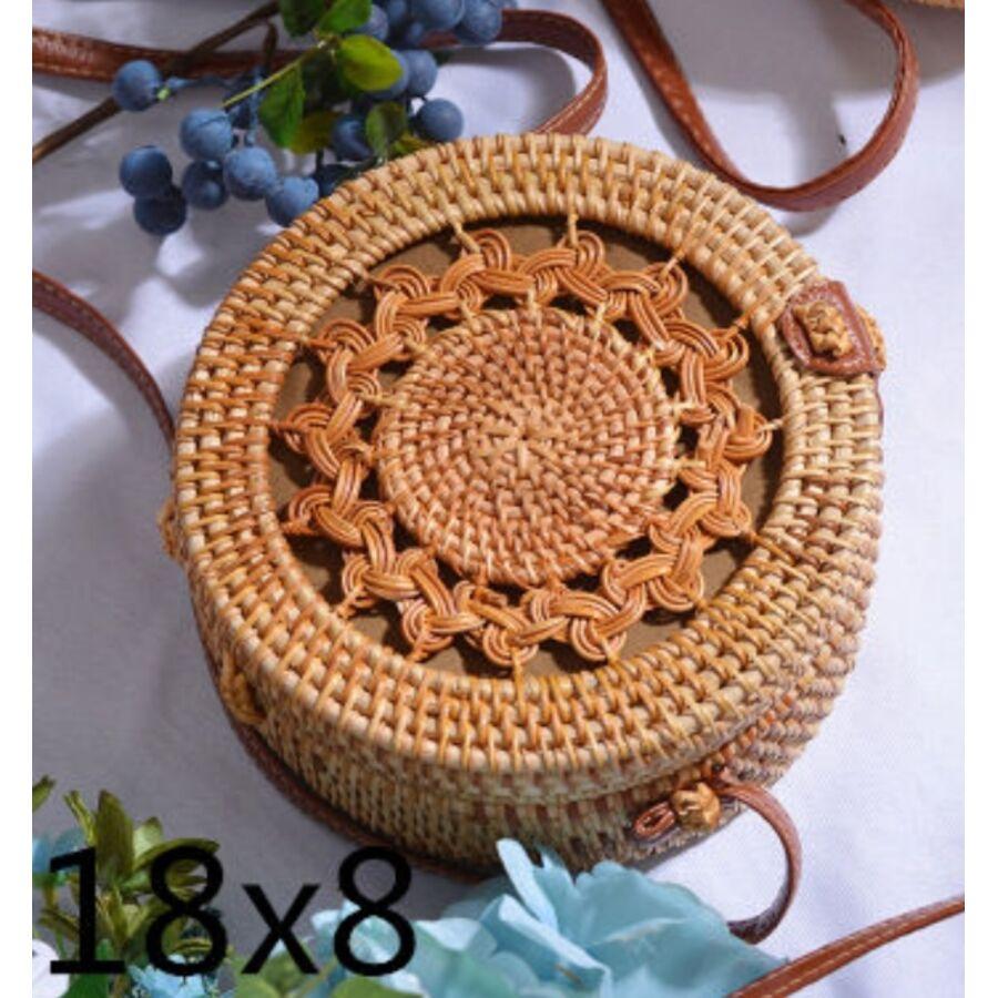 Женские сумки - Сумка соломенная 0614