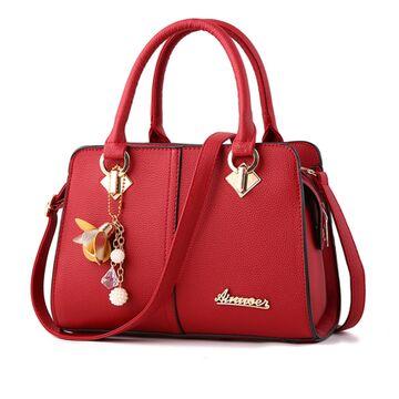 Женская сумка Saffiano, красная П0616