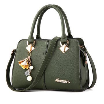 Женская сумка Saffiano, зеленая П0617