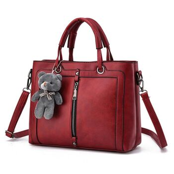 Женская сумка Saffiano, красная 0618