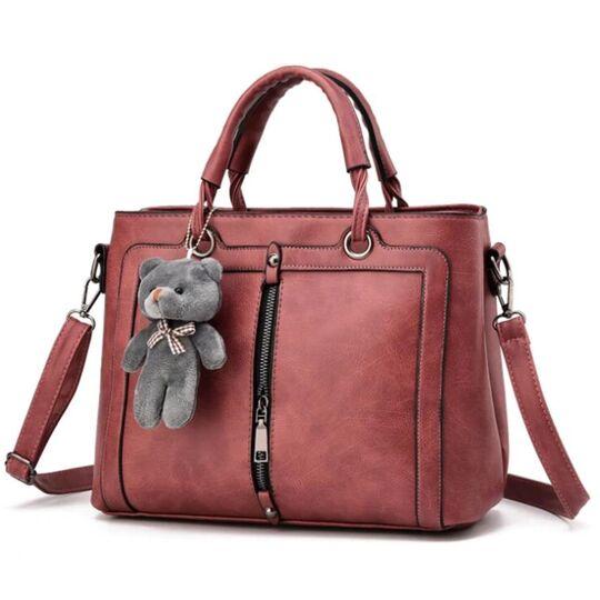 Женские сумки - Женская сумка Saffiano, розовая П0619