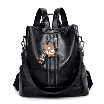 Женский рюкзак, черный 0625
